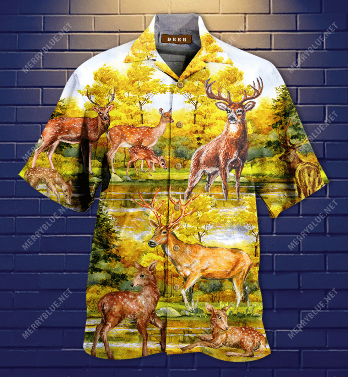 A Beautiful Summer With Deer Hawaiian Shirt