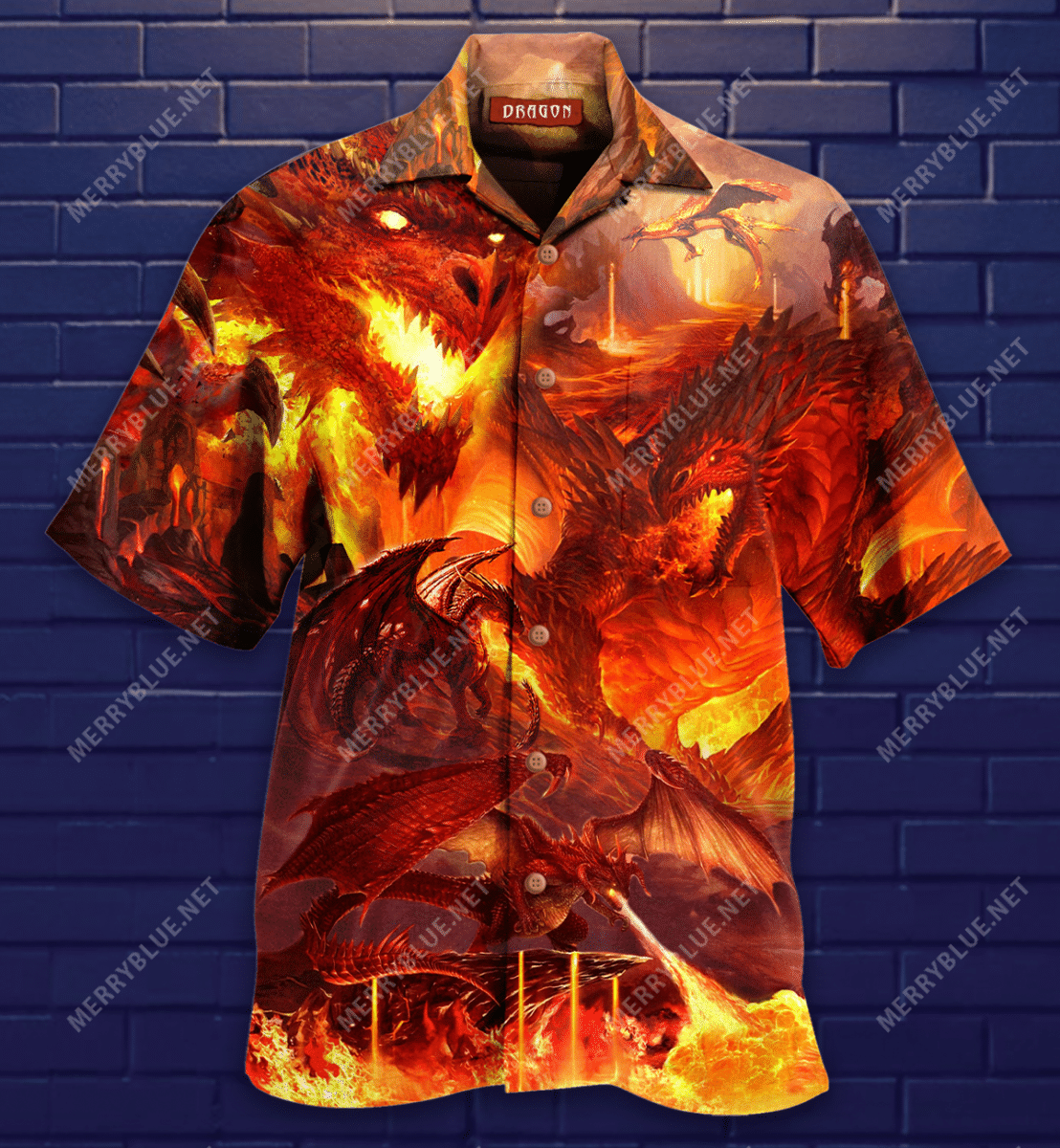 Burn World Of The Dragon Hawaiian Shirt