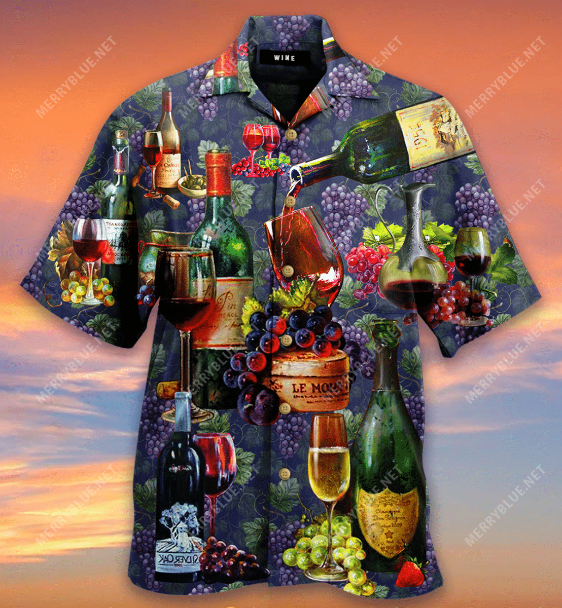 Life Is Better With A Glass Of Wine Hawaiian Shirt