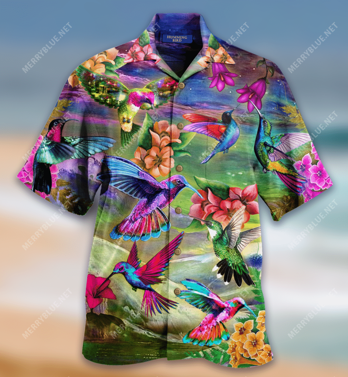 Life Is Better With A Hummingbird Unisex Hawaiian Shirt