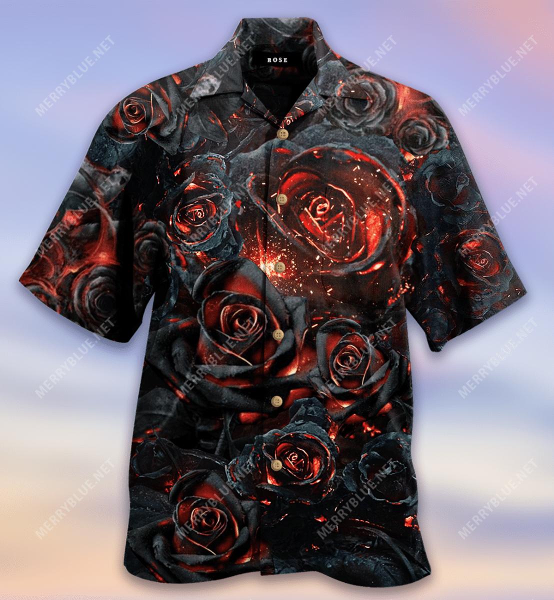 Life Is Like Burning Rose Hawaiian Shirt