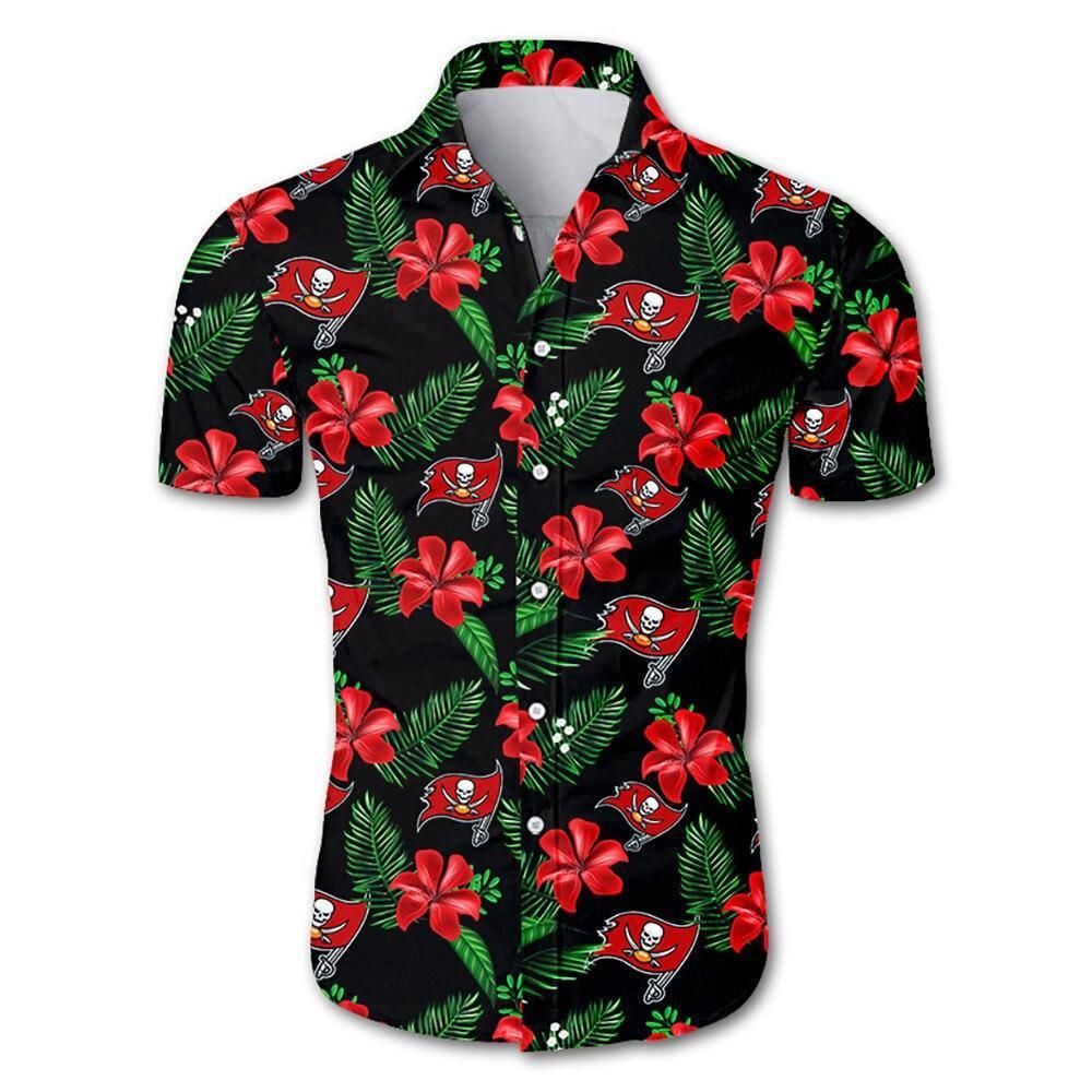 Tampa Bay Buccaneers NFL Hawaiian Shirt Floral Button Up Hawaiian Shirt