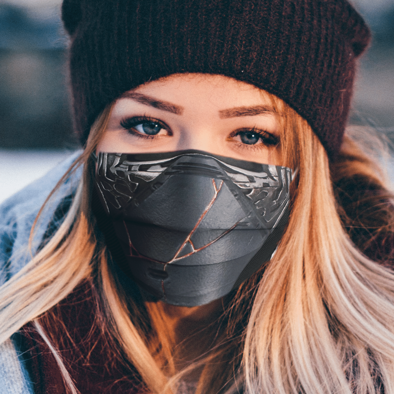 Star Wars Kylo Ren 3D AOP face mask