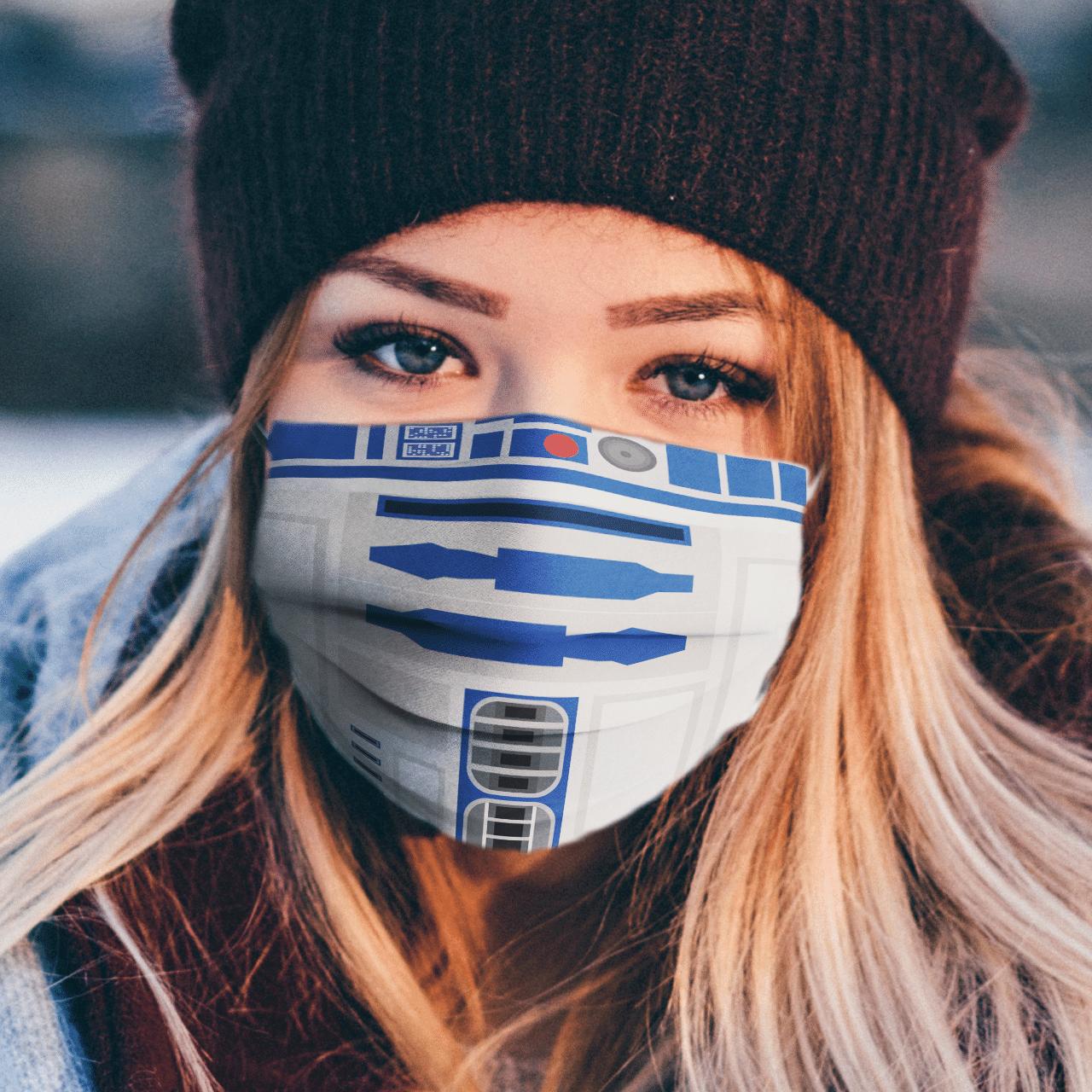 Star Wars R2-D2 Full Printed face mask