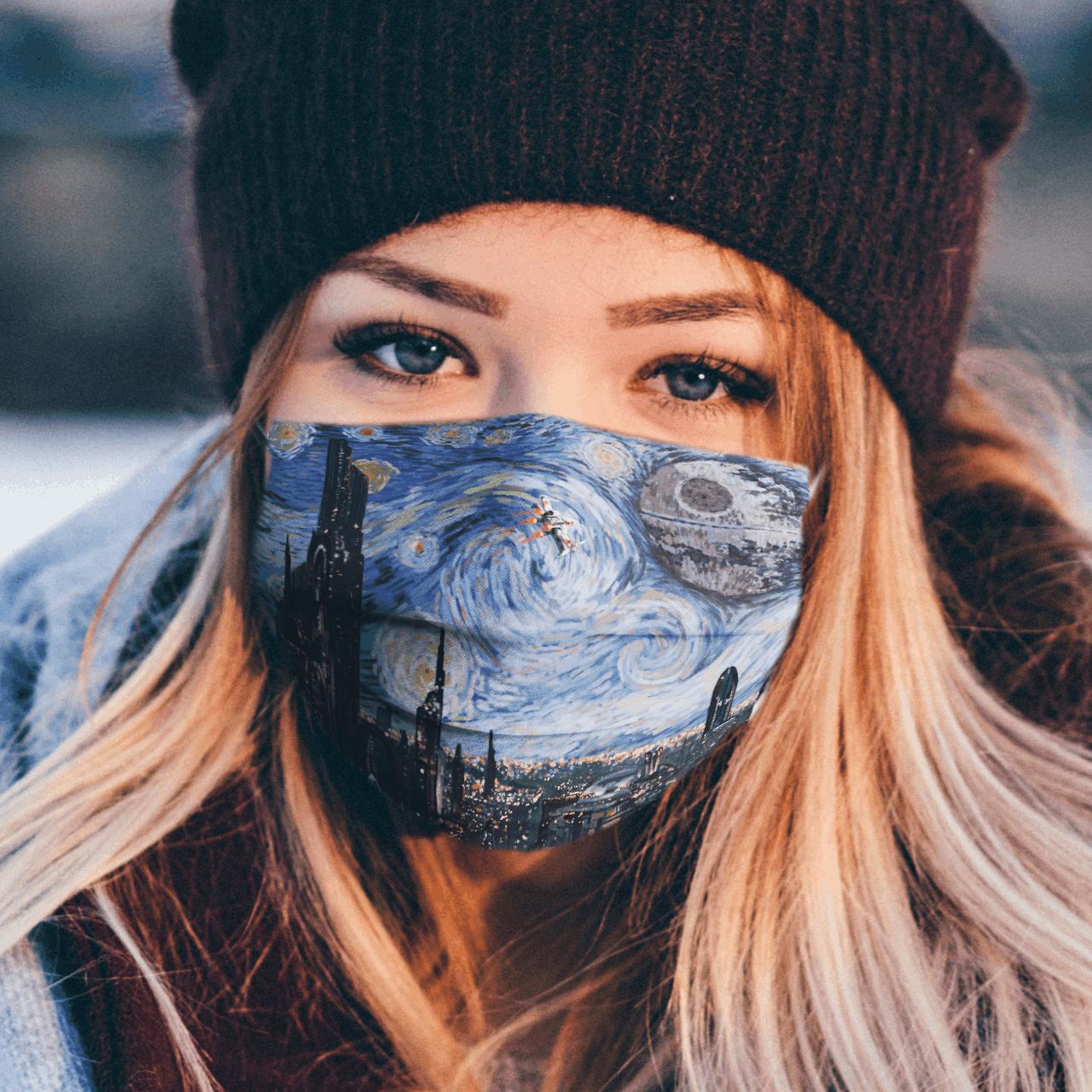 Starry night van gogh Star Wars face mask