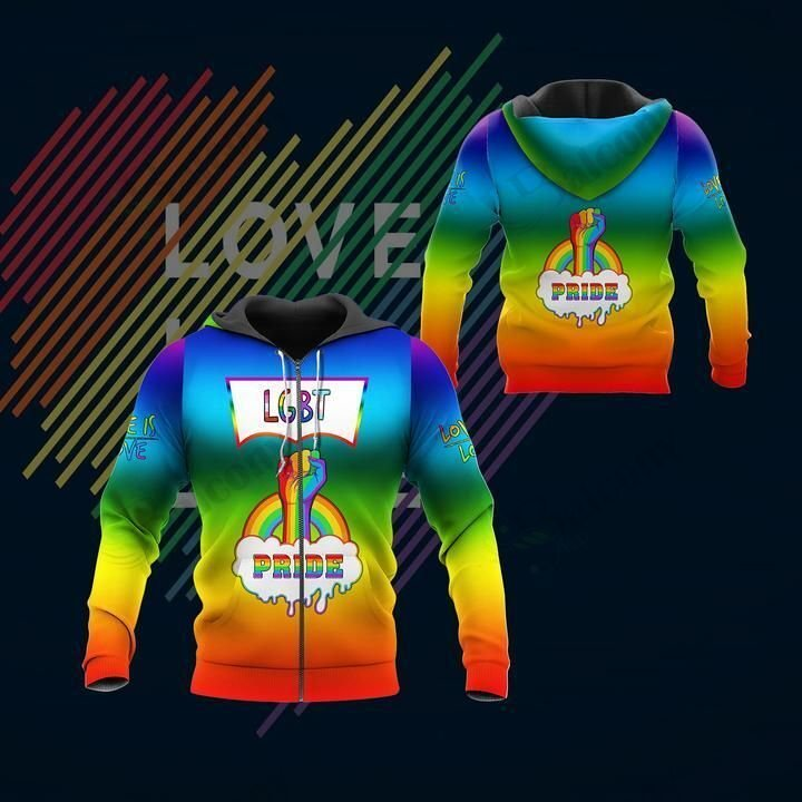 LGBT Love Pride Hoodie 3D