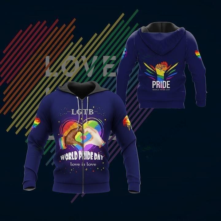 LGBT World Pride Day Blue hoodie 3D
