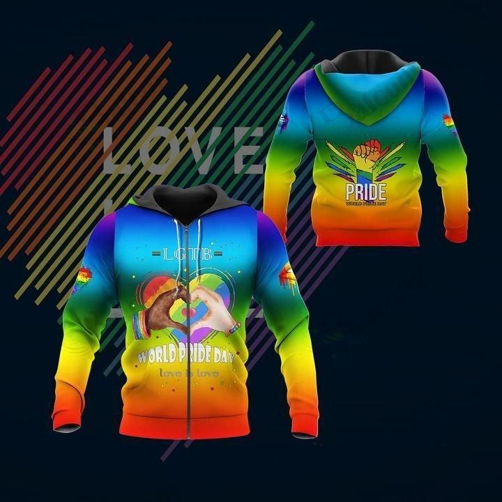 LGBT World Pride Day Rainbow hoodie 3D