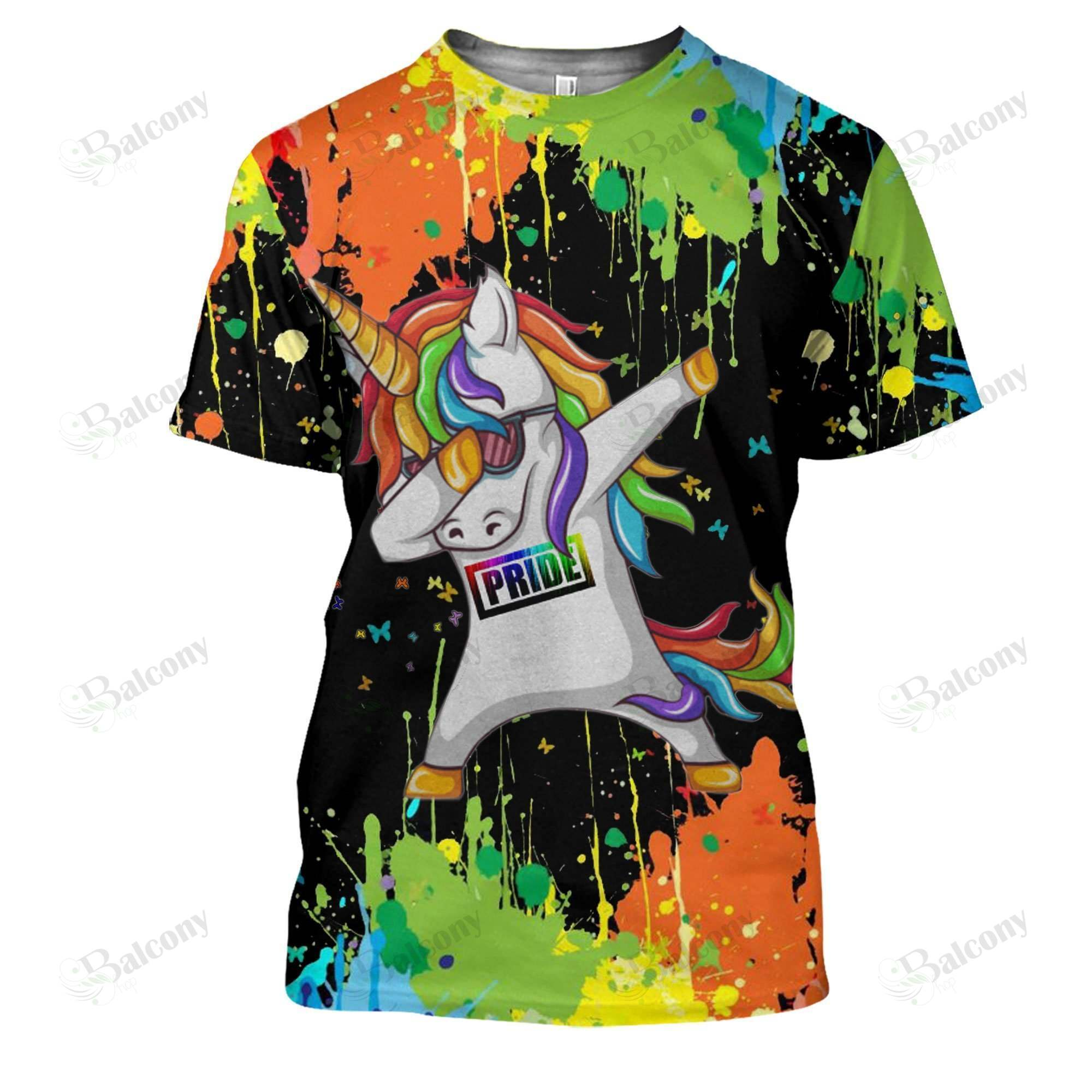 LGBT Dab UNICORN t shirt 3D