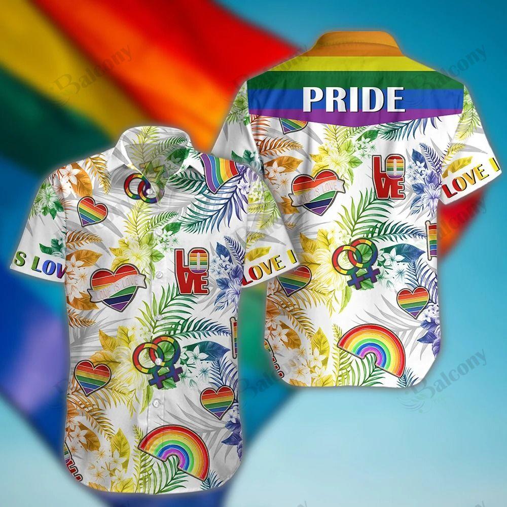 LGBT Pride Love Floral Hawaiian Pattern Shirt