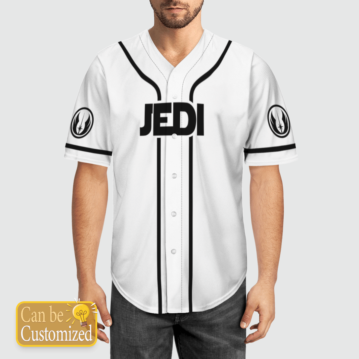 Star wars Jedi Baseball Jersey Custom Name