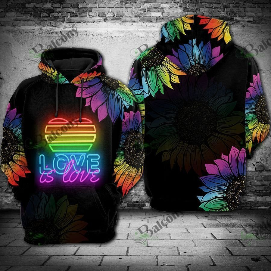 LGBT Love is love Light Flower 3D Hoodie