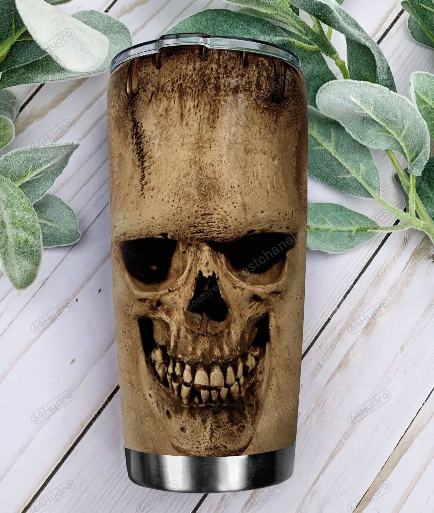 Personalized dry old bone skull Tumbler Cup