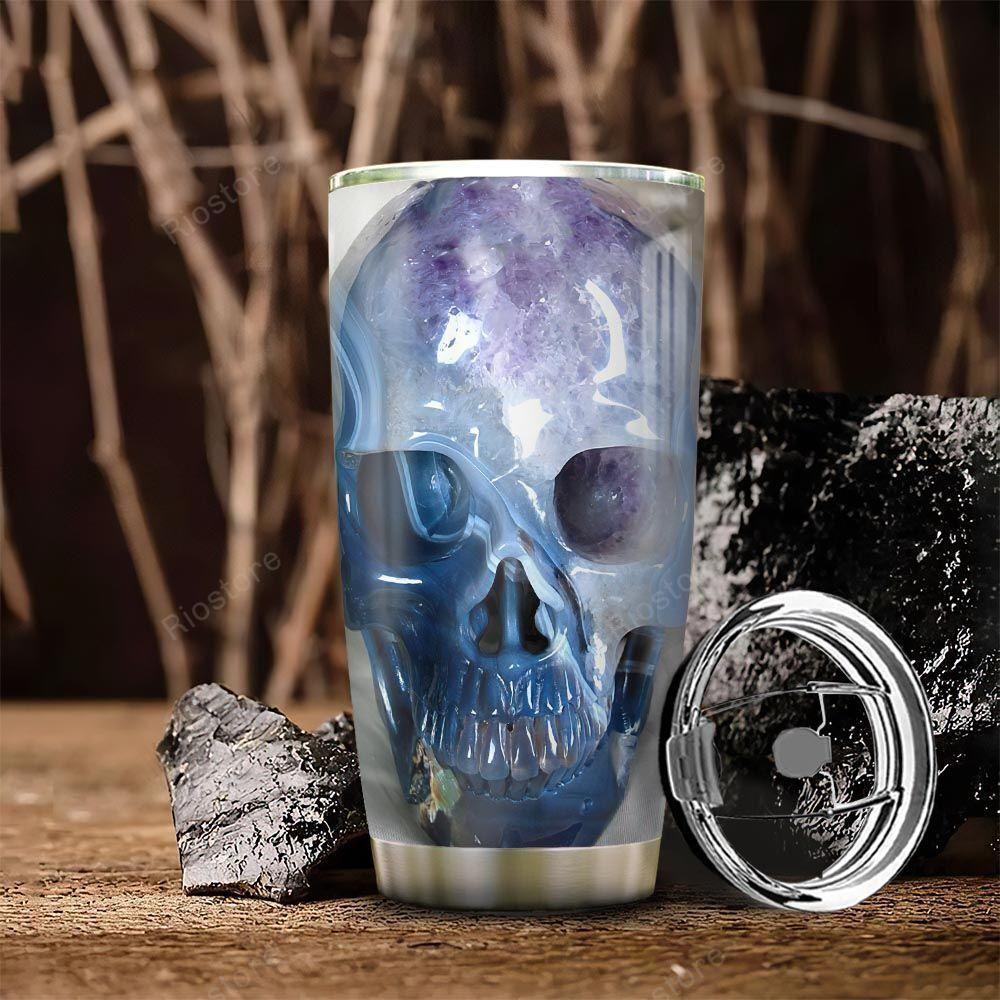 Amethyst Skull Stainless Steel Tumbler Cup