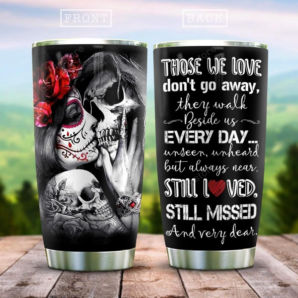 Stainless Steel Tumbler Couples Skull Joker face