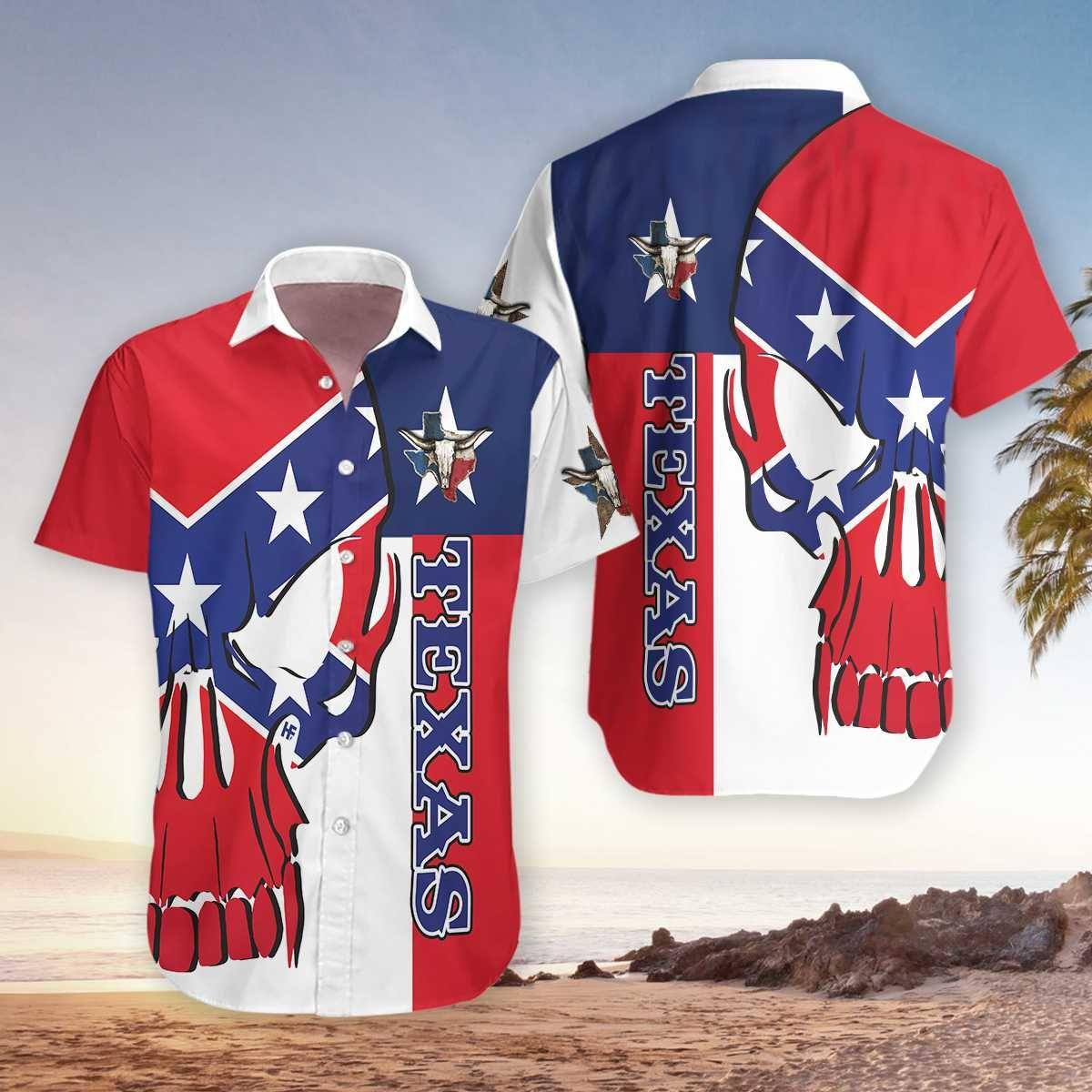 Skull Texas Southern South America Hawaiian Shirt