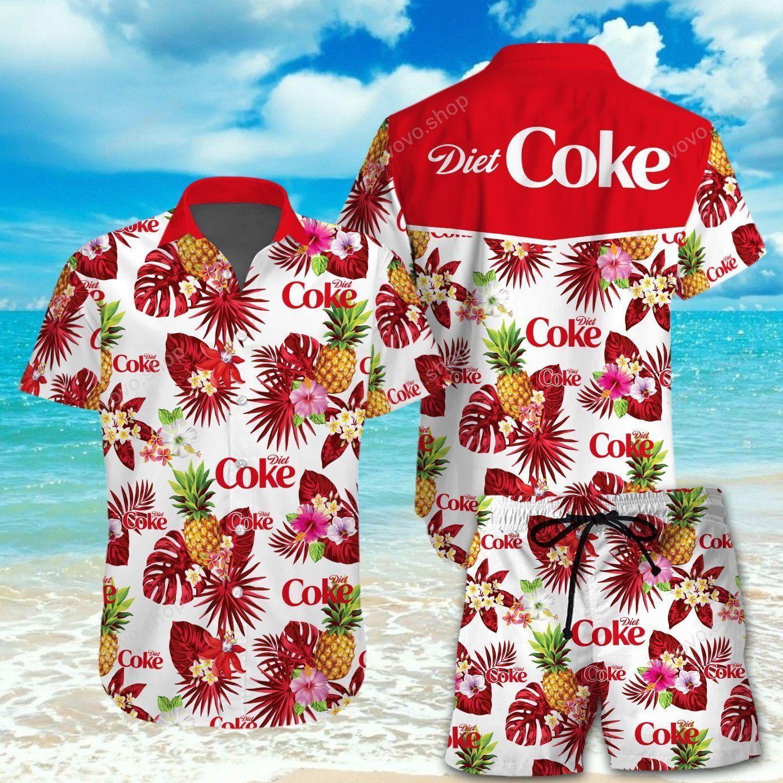 Diet Coke Hawaiian Shirt and Beach Short