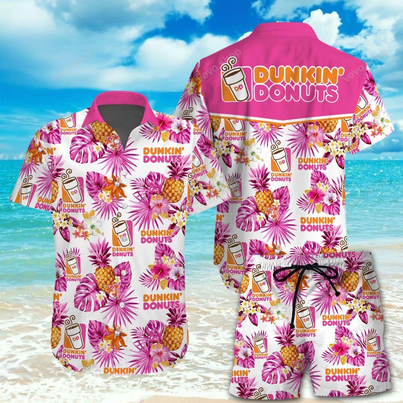 Dunkin Donuts Hawaiian Shirt and Beach Shorts