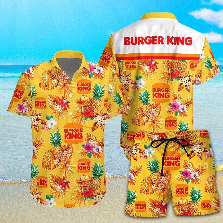 Burger King Hawaiian Shirt and Beach Shorts