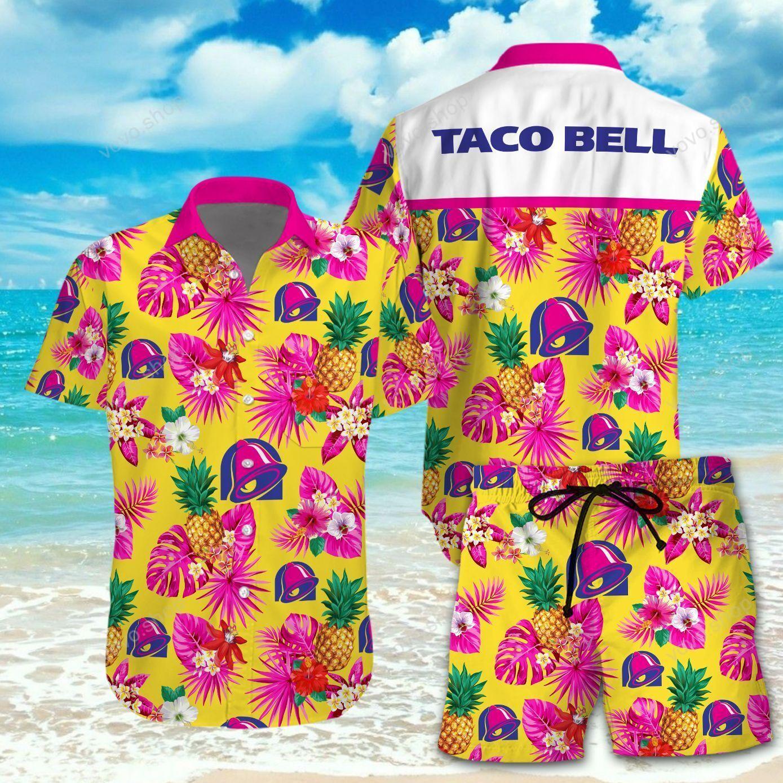 Taco Bell Pink Yeallow Hawaiian Shirt