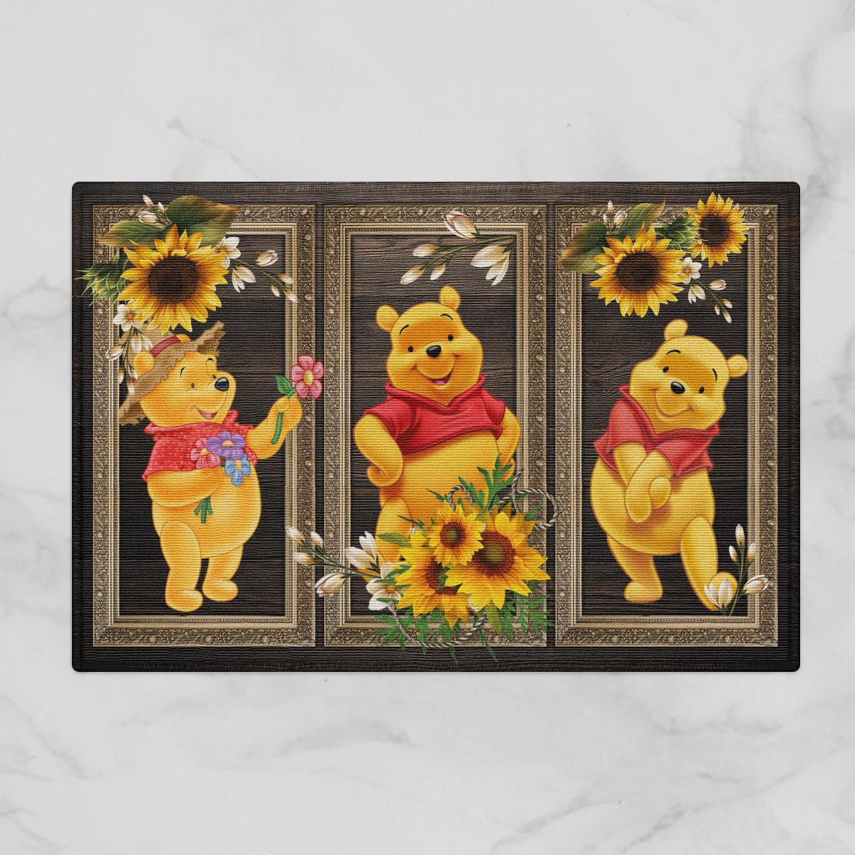 Pooh bear Sunflower Door Mat Bathroom Mat