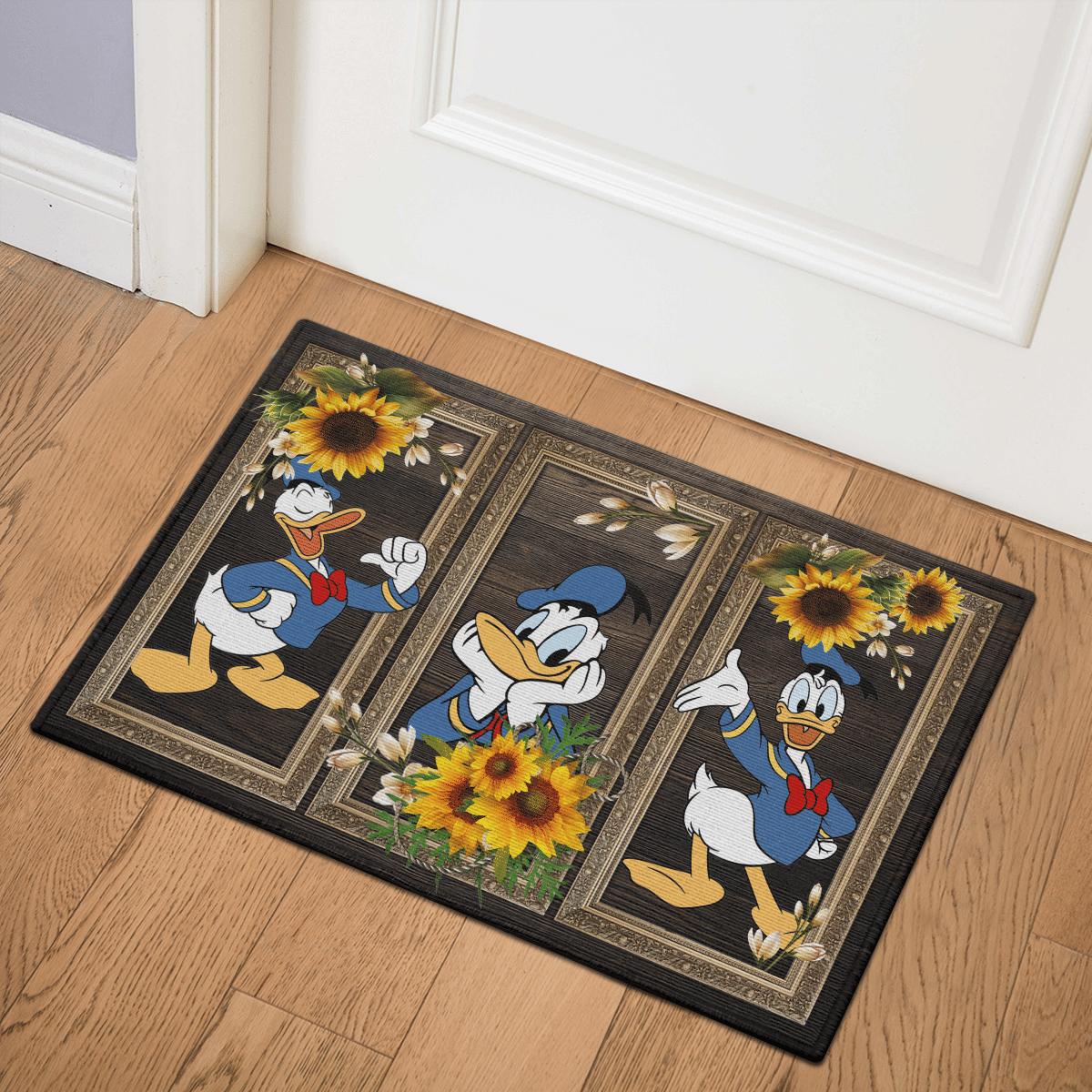 Donald Disney Sunflower Door Mat Bath Mat