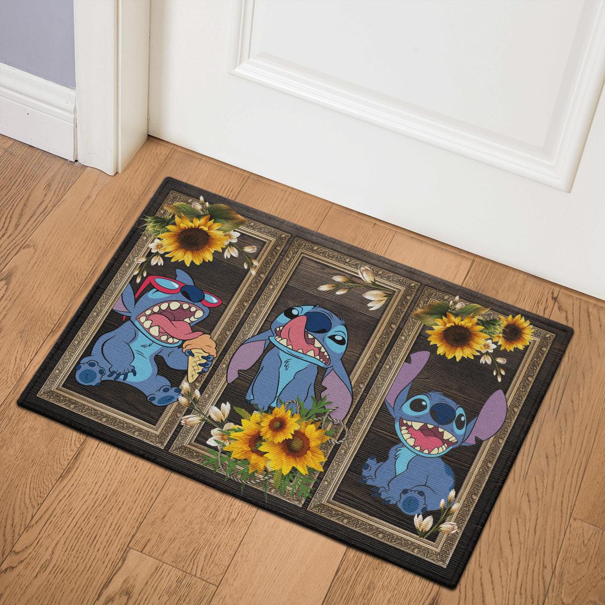 Stitch Sunflower Door Mat Bath Mat