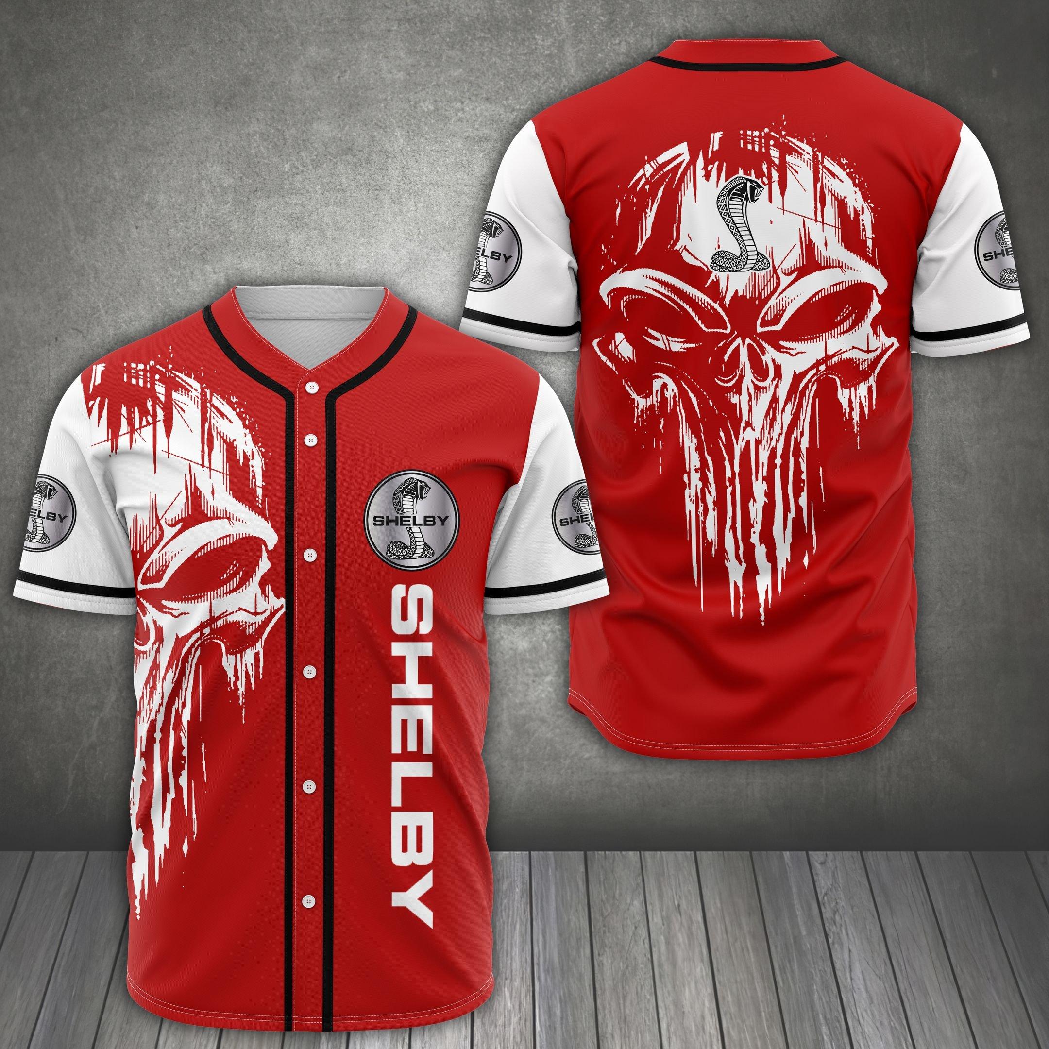 Shelby American skull Baseball Jersey