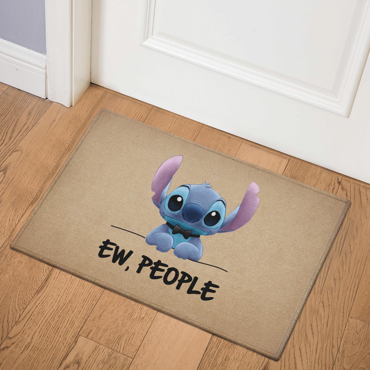 Cute Stitch Ew People Door Mat Bath Mat
