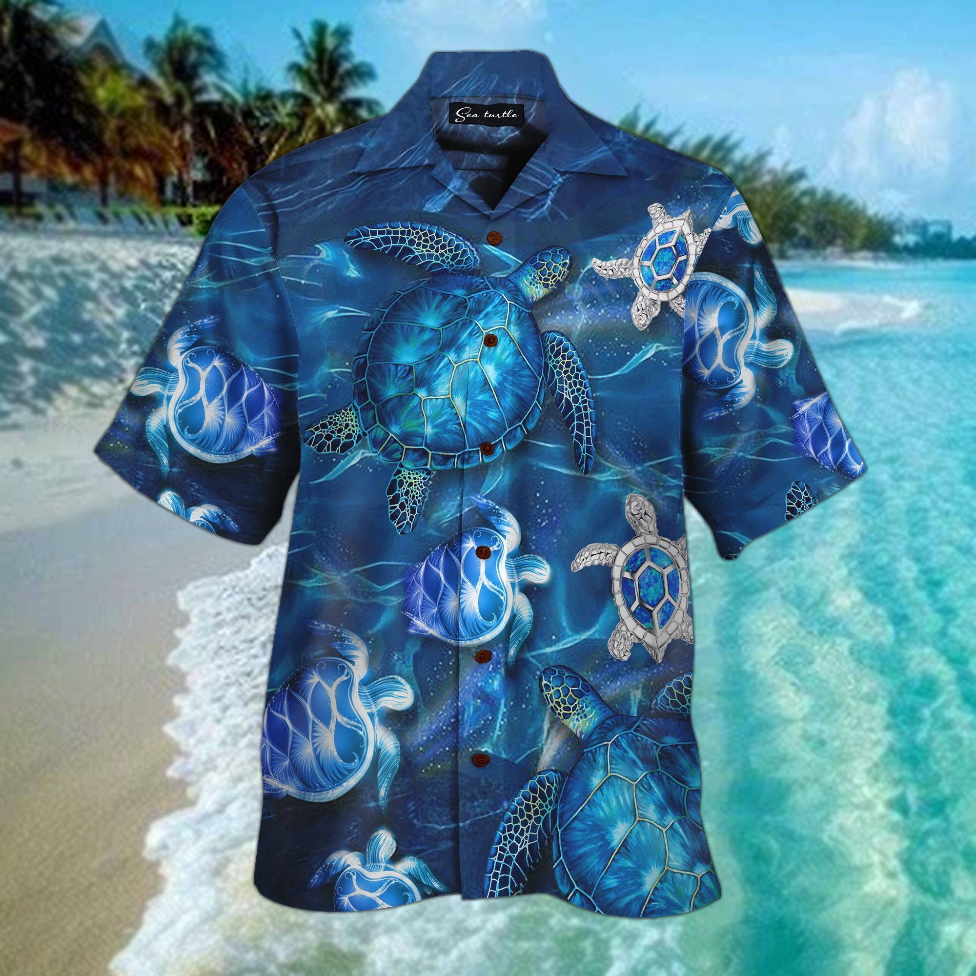 Sea Turtle 3D All Over Printed Hawaiian Shirt
