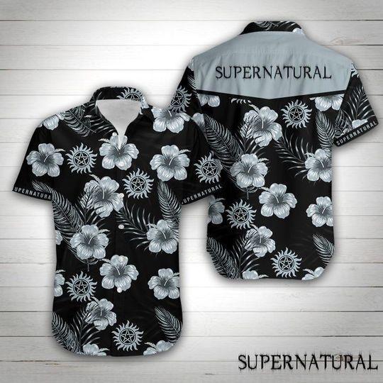 Supernatural logo Hawaiian Shirt Button Up Shirt
