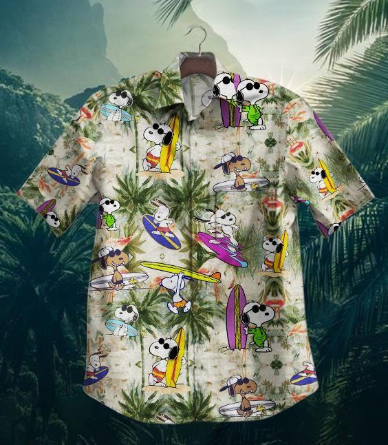 Snoopy Surfing Hawaiian Shirt Summer Shirt
