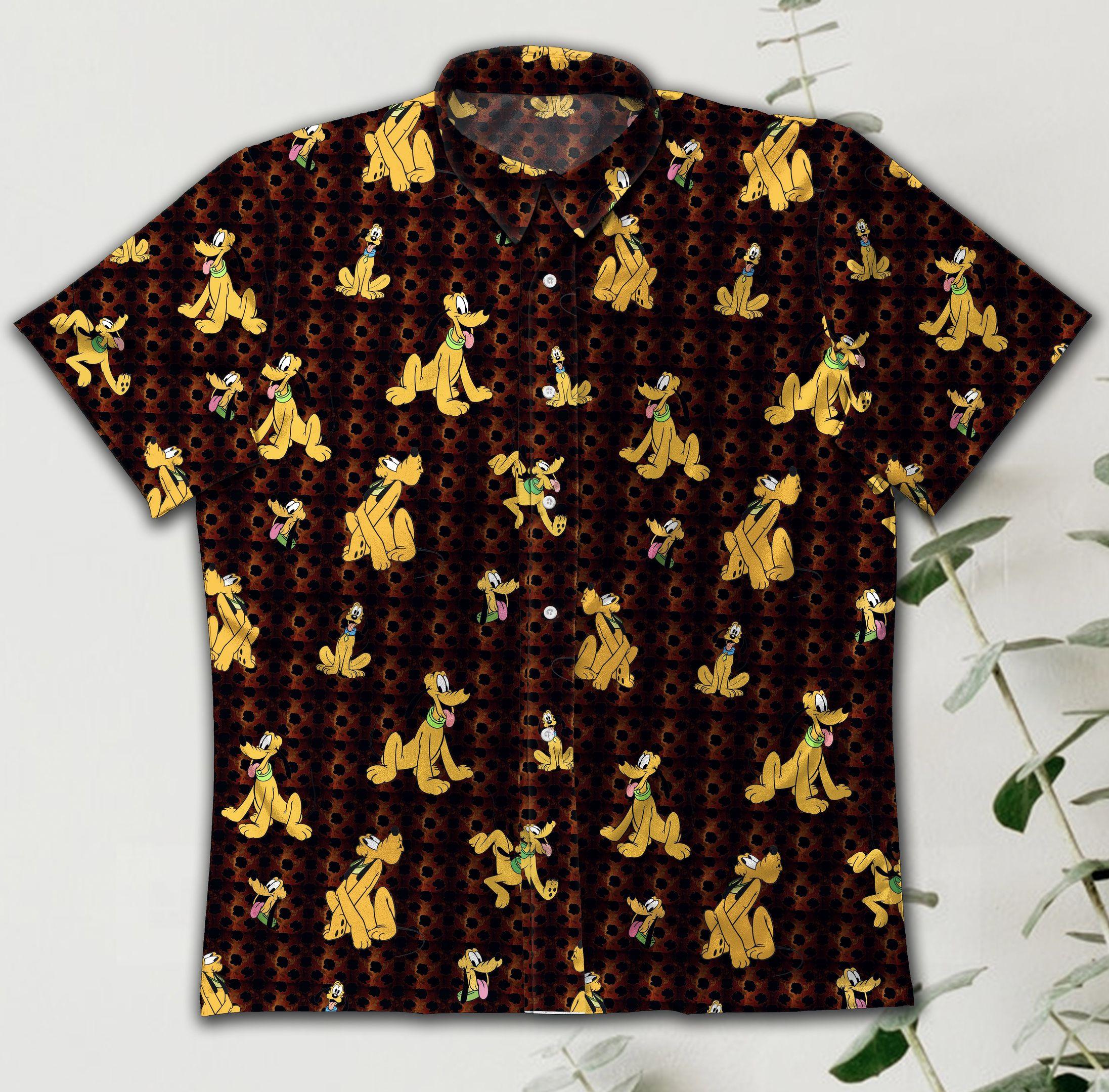 Pluto Dog Vintage Hawaiian Shirt Summer Shirt