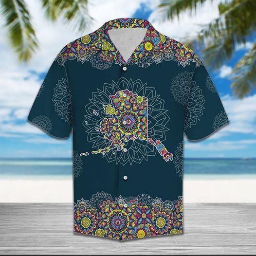 Alaska Mandala Hawaiian Shirt Button Up Shirt