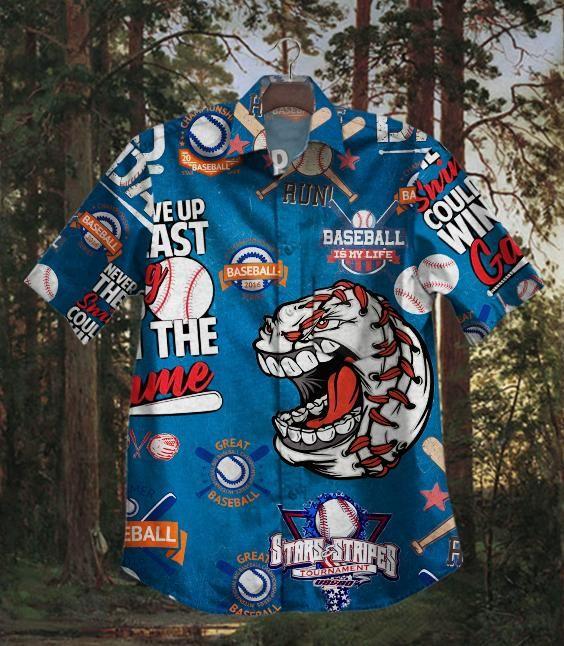 Star Striper Baseball Hawaiian Shirt Summer Shirt