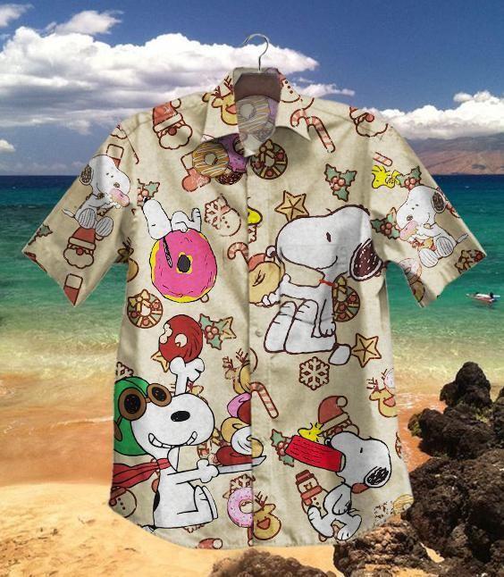 Donuts Snoopy Dog Hawaiian Shirt Summer Shirt