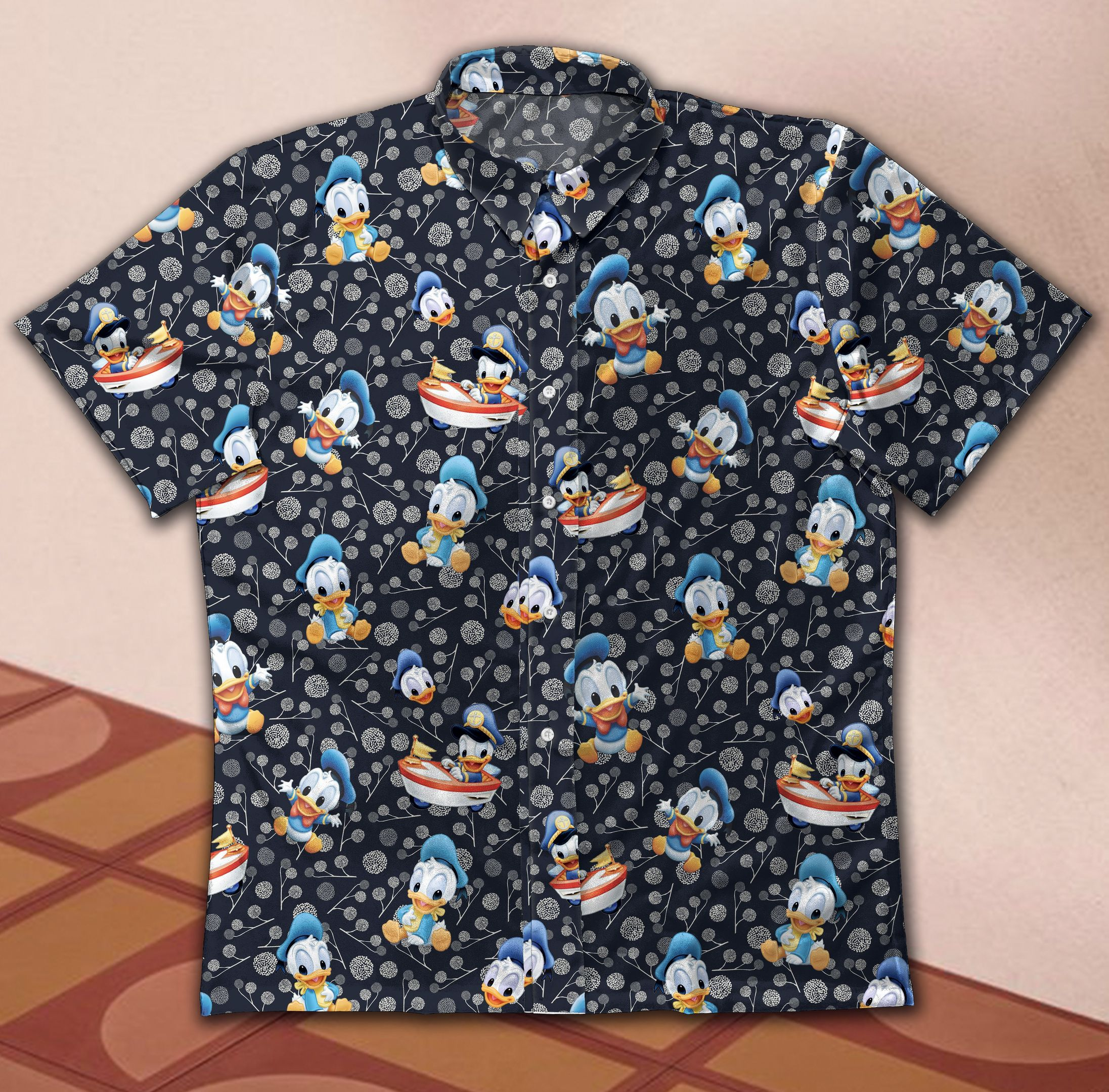 Donald Duck cute Hawaiian Shirt Button Up Shirt