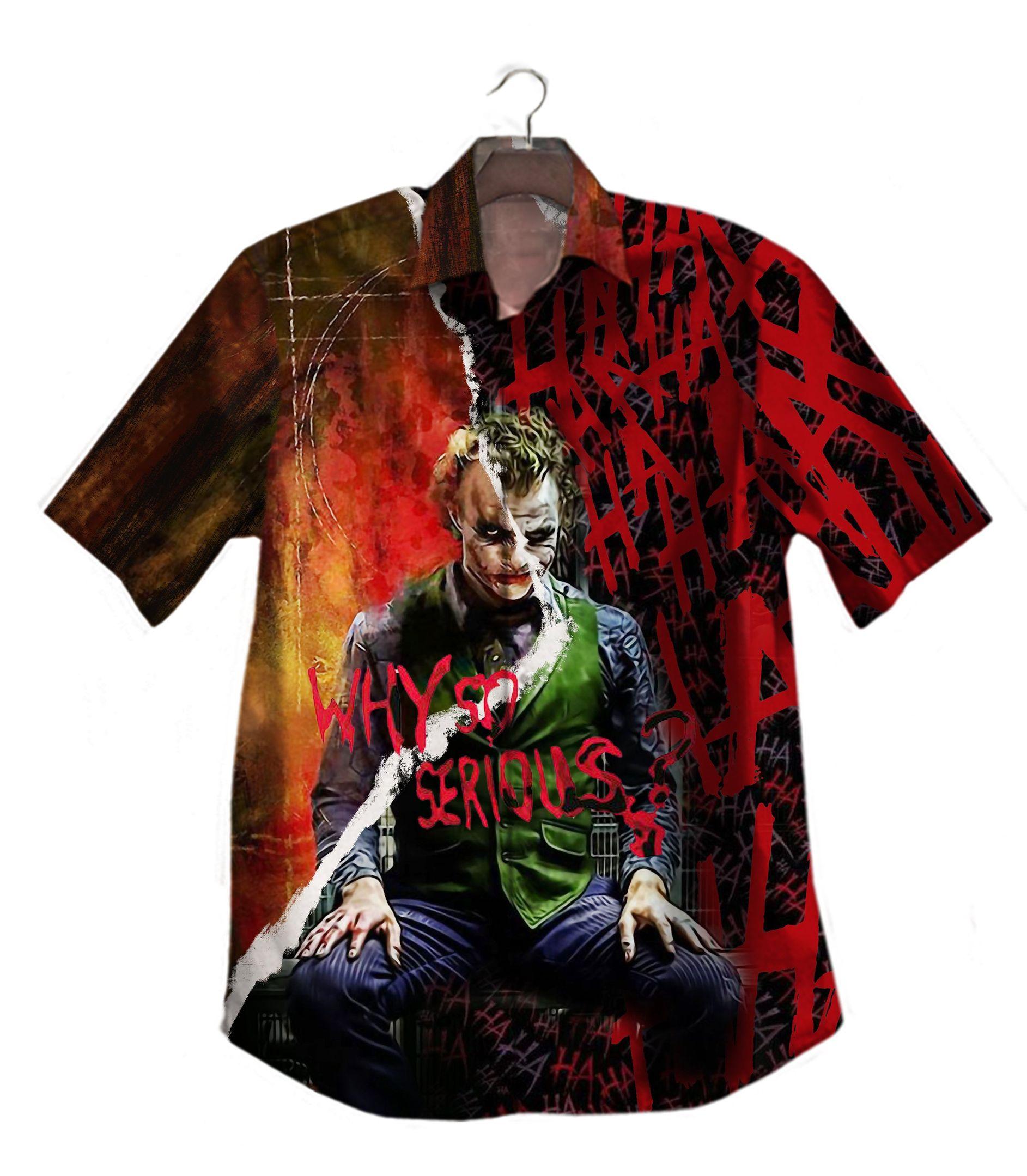Joker Why so serious Hawaiian Shirt Button Up Shirt