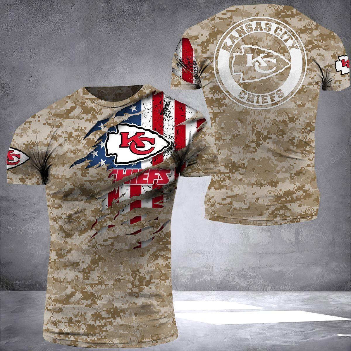 Kansas City Chief US Camouflage T shirt 3D