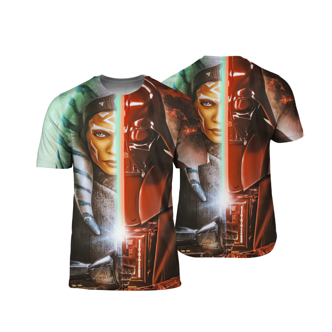 Star Wars Darth Vader Ahsoka 3D T Shirt