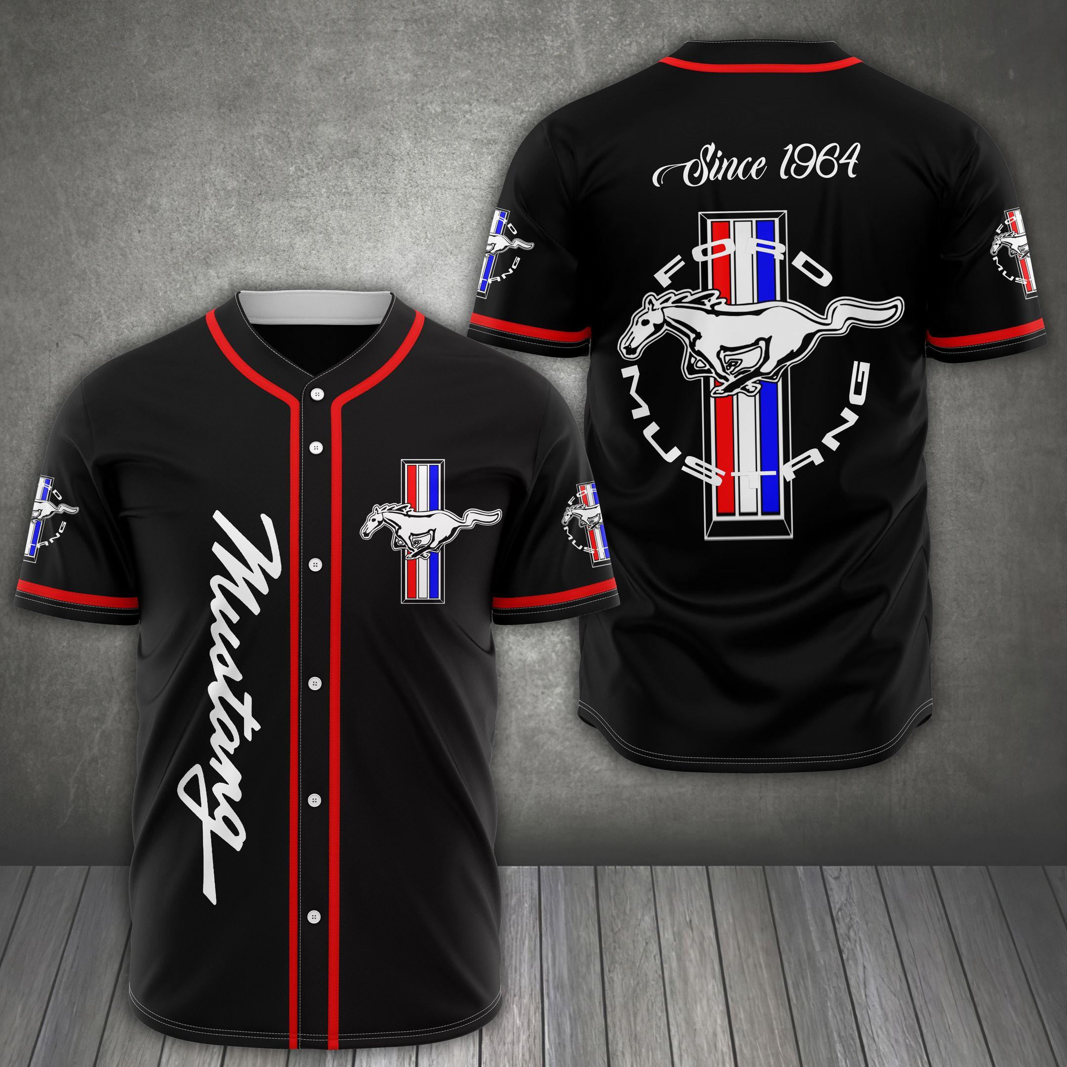 Ford Mustang Since 1964 classic baseball Jersey shirt