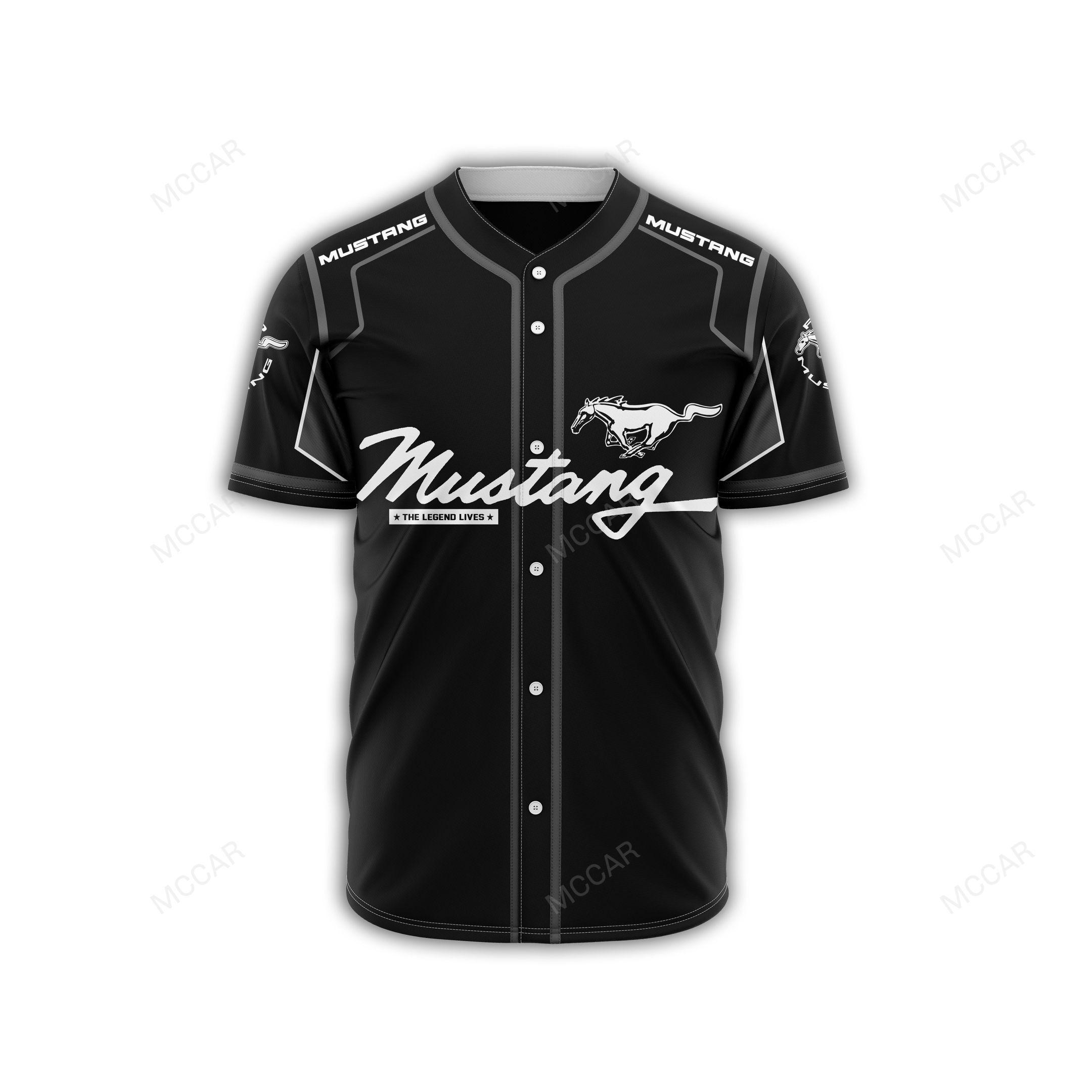 Mustang The Legend Lives Baseball Jersey shirt