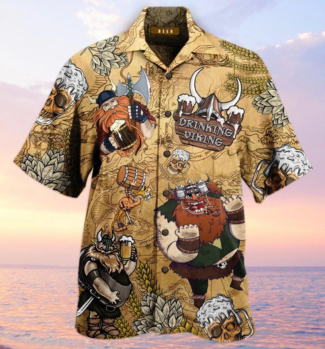 Drinking Viking Style Lover Hawaiian Shirt