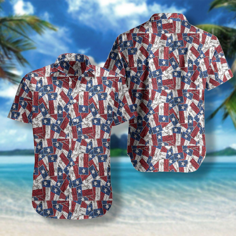 Texas flag Pattern Hawaiian Shirt