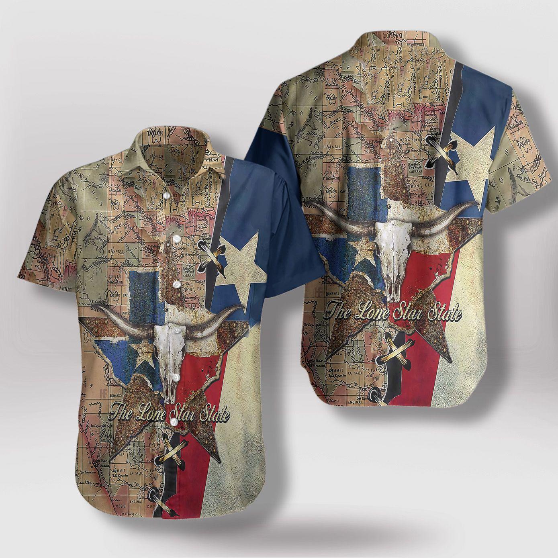 The Lone Star State Texas Hawaiian Shirt