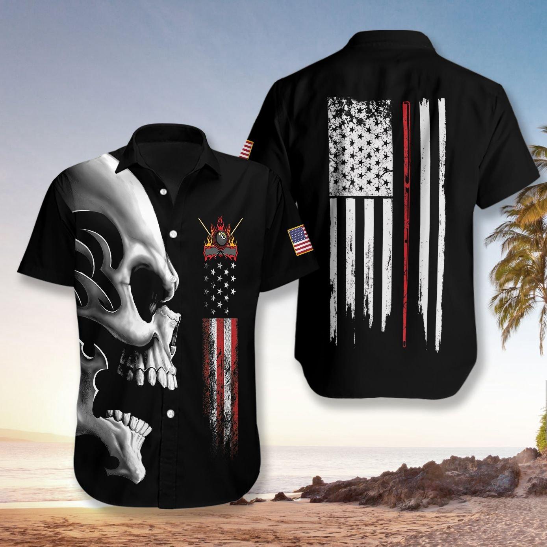 Billiards Nation Skull Hawaiian Shirt