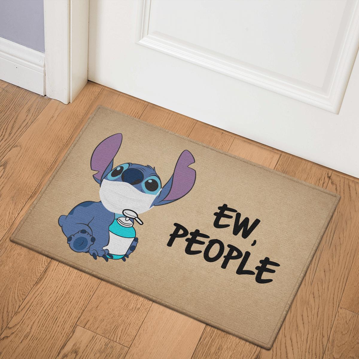 Stitch with facemask Ew People Door Mat Bath Mat