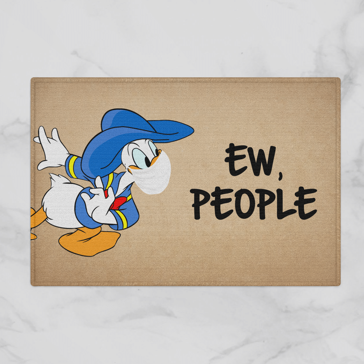 Donald Disney Ew People Door Mat Bath Mat