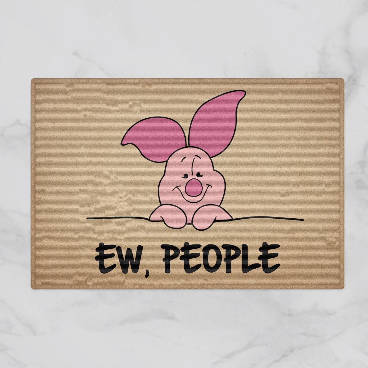 Lovely Piglet Ew People Door Mat Bathroom Mat