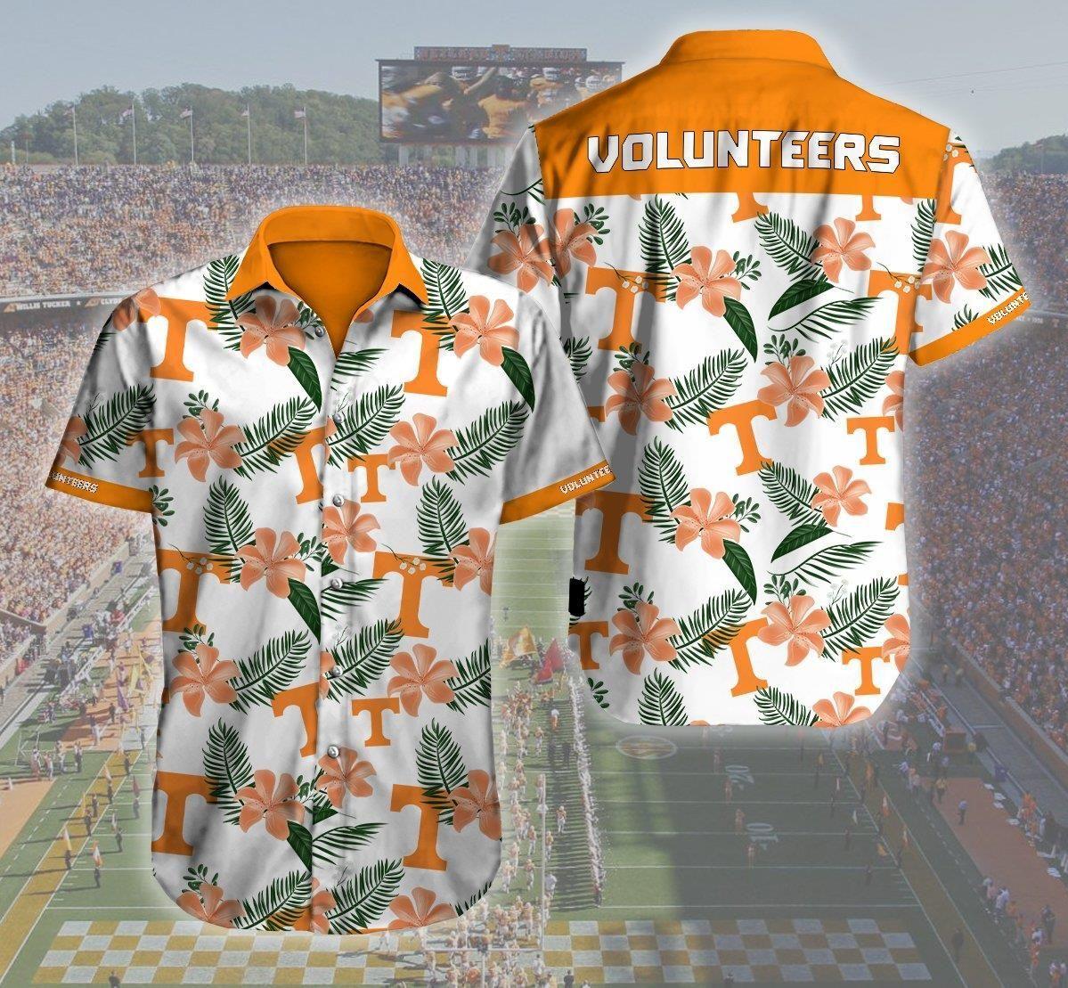 Tennessee Volunteers Logo 3d Hawaii Shirt